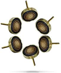 oak kitchen cupboard door knobs set of 6 brown knobs wood metal kitchen cabinet cupboard door knobs dresser wardrobe and drawer pull 192 gm by perilla home