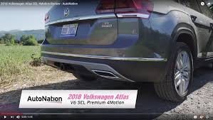 volkswagen atlas sel video 2018 volkswagen atlas sel 4motion review autonation drive