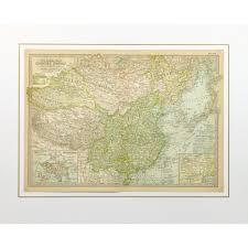 China Topographic Map by Map China 1897 Mapsandart Original Art Antique Maps U0026 Prints