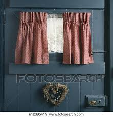 White Lace Window Valances Stock Photograph Of Close Up Of Pink Curtains And White Lace