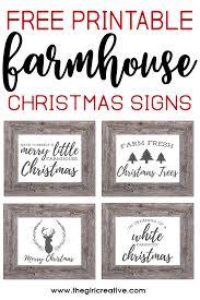 christmas signs free printable farmhouse christmas signs the girl creative