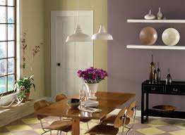 dining room good abstract painting downlight wooden dining table