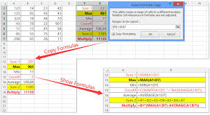 how to copy formula without changing its cell references in excel