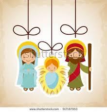 nativity scene star christmas card vector stock vector 114320134