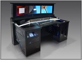 Pc Desk Ideas with Desk Computer Desks For Gamers Custom Gaming Plans With Regard