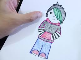 Emo Hairstyles Drawings by How To Draw A Cartoon Emo 8 Steps With Pictures Wikihow