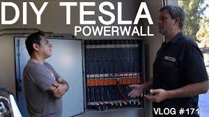 diy tesla powerwall diy tesla powerwall my wall vs elon s wall youtube