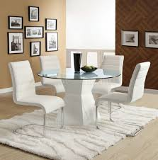 metal and leather dining chairs dining room 7 pieces dinette in white theme using tufted white