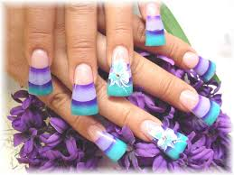 colored acrylic nail designs how you can do it at home pictures