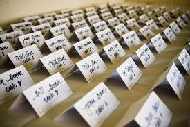 Table Place Cards by Place Cards At Your Side Planning