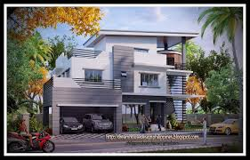 apartments three story house plans storey house design at