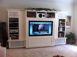 Wooden Cabinets With Doors White Wooden Cabinet And Shelves Also Rectangle Black Flat Screen