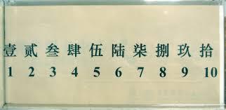 banche cinesi attenzione agli zeri i numeri in cinese il daxie 大写