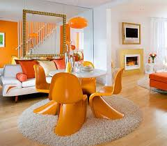 orange dining room decorating with orange how to incorporate a risky color tastefully