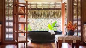 Outdoor Bathrooms Ideas by Indoor Outdoor Bathroom Design Ideas Shelves On The Wall Above