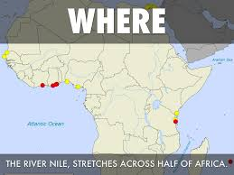 Nile River On Map Nile River By Hannah Shields