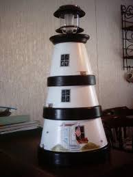 solar lights for craft projects diy clay pot lighthouse solar lights lighthouse and solar