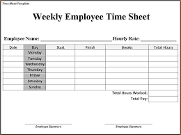 11 monthly timesheet templates free sample example