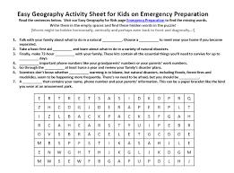 Emergency Preparedness Worksheet Emergency Preparation Worksheet Free Printable Word Seek