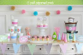 Ice Cream Decorations Ice Cream Party Ideas Pink Peppermint Design