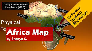 Physical Africa Map by Africa Map Gse Youtube