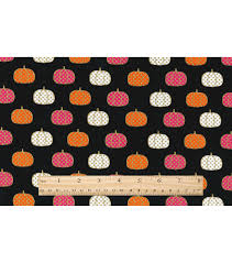 Joann Halloween Fabric by Halloween Cotton Fabric Polka Dot Pumpkins Joann