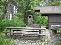 cabin at camp long showing picnic table goldie silverman writer