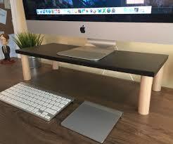 Office Desk Risers 9 Diy Computer Monitor Riser Stand Monitor Stand Monitor And