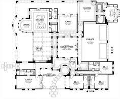 mediterranean floor plans with courtyard storybook inspiration with secret passage 17570lv european