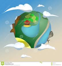 House Planet by Puppet Planet Earth Stock Vector Image 39380414