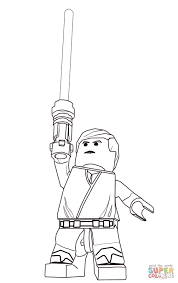 lego star wars luke skywalker super coloring lineart star