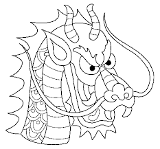 chinese dragon head coloring coloring