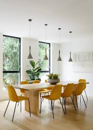 Mustard Dining Chairs by The Swing In The Kitchen Of This San Francisco House Is A