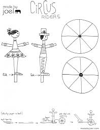 made by joel paper circus rider toy