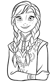 Coloriage Reine des Neiges pour les 2 ans du dessin animé Frozen