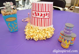 theme centerpieces carnival theme or circus theme party diy inspired