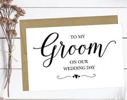 Card For Groom From Bride Husband Card Etsy
