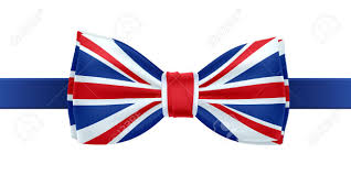 Great Britain Flag Bow Tie With Uk Flag Vector Illustration Great Britain Symbol