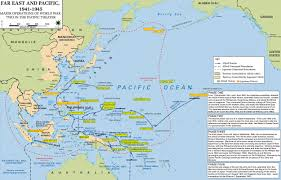 Map Of Okinawa Map Of Wwii Major Operations In Asia And The Pacific