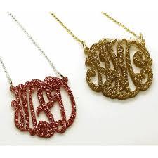 monogram necklace acrylic acrylic monogram necklace the purple mermaid