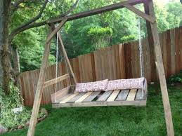 Swings For Backyard 40 Diy Pallet Swing Ideas 99 Pallets