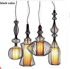Lighting Fixtures Wholesale Wholesale Fashion Decoration Aesthetic Iron Metal Cage Pendant