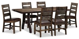 Urban Splendor Piece Dining Room Set Rustic Pine Leons - Pine dining room sets