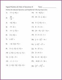 order of operations worksheet 7th grade math worksheets 7th grade