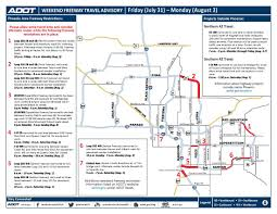 Phoenix Freeway Map by Weekend Freeway Travel Advisory Stretch Of East And Southbound