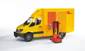 land rover bruder bruder mercedes benz sprinter dhl truck with hand pallet jack