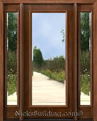 Solid Mahogany Exterior Doors Doors With Side Lights Exterior Doors With Sidelights Solid