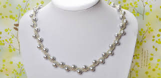 tutorial pearl necklace images Elegant jewelry beads and accessories simple pearl necklace diy jpg