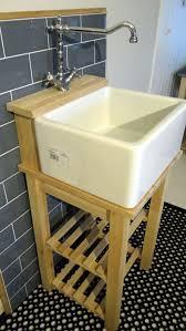 belfast baby belfast sink stand unit oak tap ledge