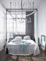 bedroom scandinavian countryside bedroom features black metal
